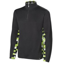 Neve Landen Sweater - Zip Neck (For Men) in Charcoal - Closeouts