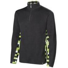 Neve Landen Sweater - Zip Neck (For Men) in Charcoal - Closeouts