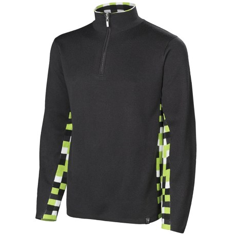 Neve Landen Sweater - Zip Neck (For Men) in Charcoal