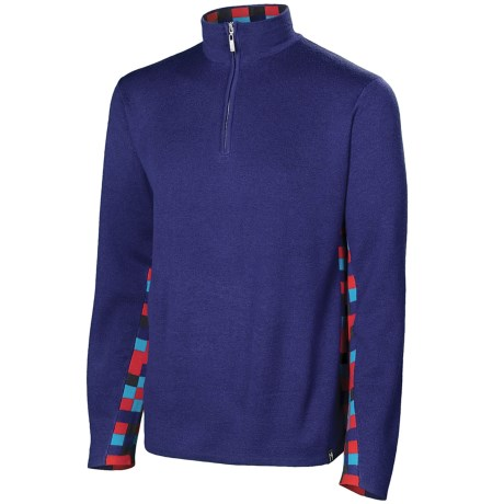 Neve Landen Sweater - Zip Neck (For Men) in Cobalt