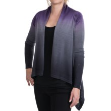 Neve Lanie Wrap Cardigan Sweater - Merino Wool (For Women) in Eggplant - Closeouts