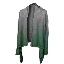 Neve Lanie Wrap Cardigan Sweater - Merino Wool (For Women) in Pine - Closeouts