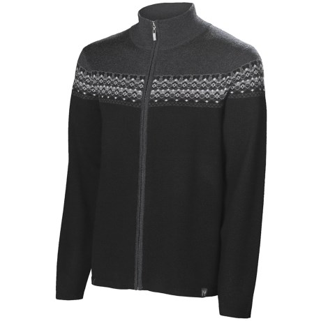 Neve Lars Cardigan Sweater - Merino Wool (For Men) in Wine