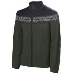 Neve Lars Cardigan Sweater - Merino Wool (For Men) in Olive