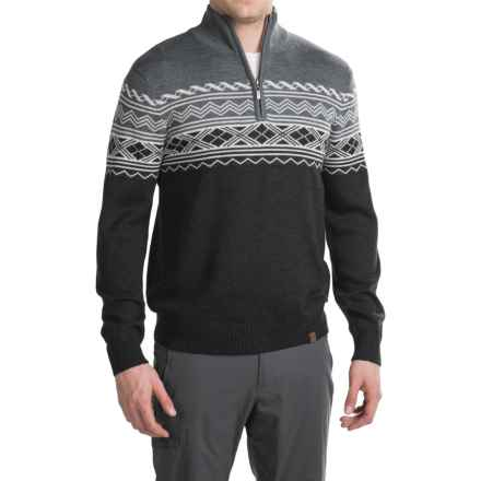 Neve Lars Ski Sweater - Zip Neck, Merino Wool (For Men) in Black - Closeouts