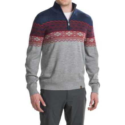 Neve Lars Ski Sweater - Zip Neck, Merino Wool (For Men) in Navy - Closeouts