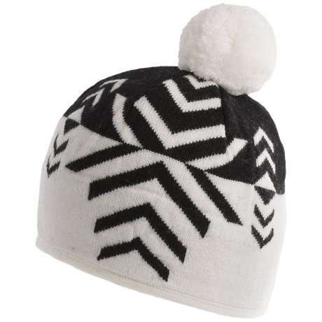 Neve Leah Beanie Hat - Merino Wool (For Women) in Black