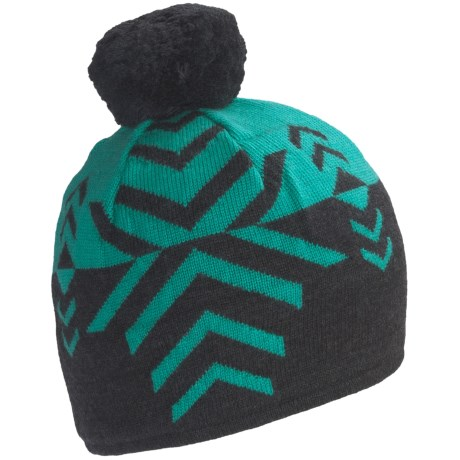 Neve Leah Beanie Hat - Merino Wool (For Women) in Jade