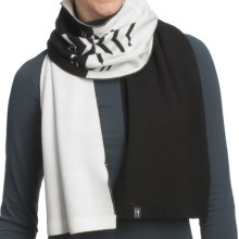 Neve Leah Scarf - Ultrafine Merino Wool (For Women) in Black - Closeouts