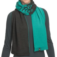 Neve Leah Scarf - Ultrafine Merino Wool (For Women) in Jade - Closeouts