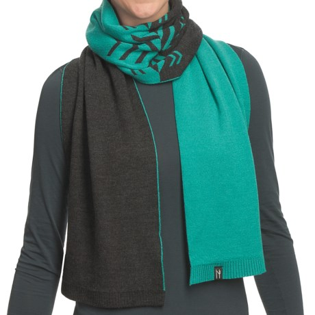 Neve Leah Scarf - Ultrafine Merino Wool (For Women) in Glacier