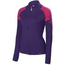 Neve Leah Sweater - Merino Wool, Full Zip (For Women) in Raspberry - Closeouts