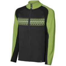 Neve Liam Ribbed Cardigan Sweater - Full Zip (For Men)