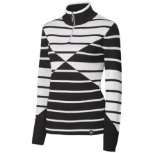 Neve Lindsey Sweater - Merino Wool, Zip Neck, Long Sleeve (For Women) in Black - Closeouts