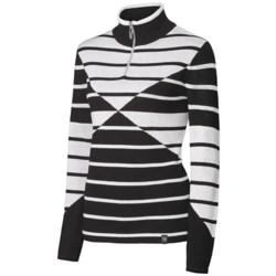 Neve Lindsey Sweater - Merino Wool, Zip Neck, Long Sleeve (For Women) in Cobalt