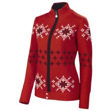 Neve Lisa Nordic Jacket - Merino Wool, Full Zip (For Women) in Red - Closeouts