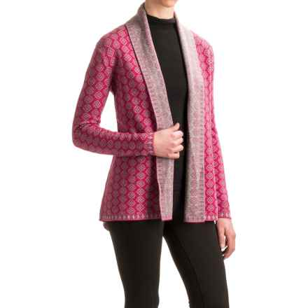 Neve Lisa Open-Front Cardigan Sweater - Merino Wool (For Women) in Fuschia - Closeouts