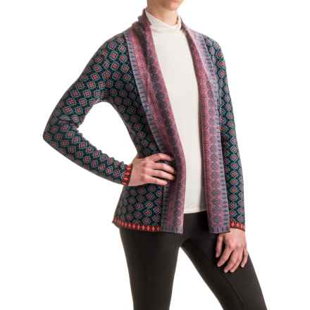 Neve Lisa Open-Front Cardigan Sweater - Merino Wool (For Women) in Multi - Closeouts