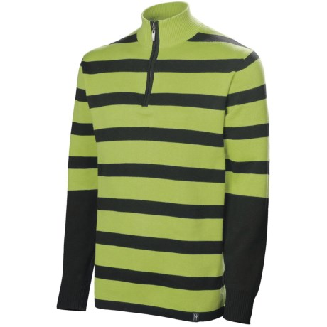 Neve Lyman Sweater - Zip Neck (For Men) in Sprout