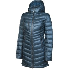 Neve Madison Down Coat - Hooded, 600 Fill Power (For Women) in Slate - Closeouts