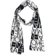 Neve Mara Scarf - Cotton-Wool Blend (For Women) in Black - Closeouts