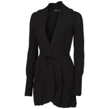 Neve Marissa Wrap Cardigan Sweater (For Women) in Black - Closeouts