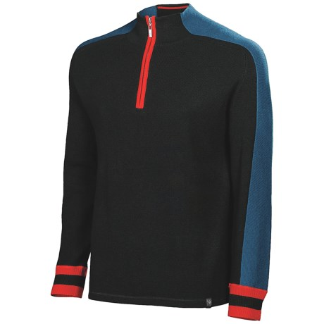 Neve Mason Sweater - Zip Neck (For Men) in Sprout