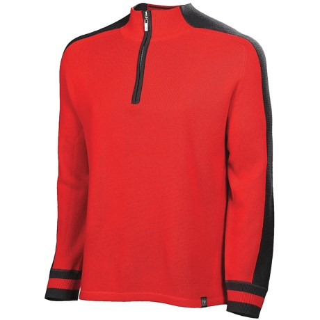 Neve Mason Sweater - Zip Neck (For Men) in Red
