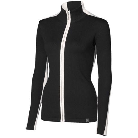 Neve Megan Sweater - Merino Wool, Full Zip (For Women) in Charcoal