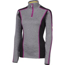 Neve Melody Sweater - Merino Wool Blend, Zip Neck (For Women) in Charcoal - Closeouts