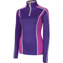 Neve Melody Sweater - Merino Wool Blend, Zip Neck (For Women) in Plum - Closeouts