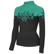 Neve Natalie Sweater - Merino Wool, Zip Neck (For Women) in Jade - Closeouts