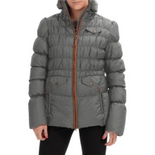Neve Nina Peplum Down Jacket - 800 FP (For Women) in Charcoal - Closeouts
