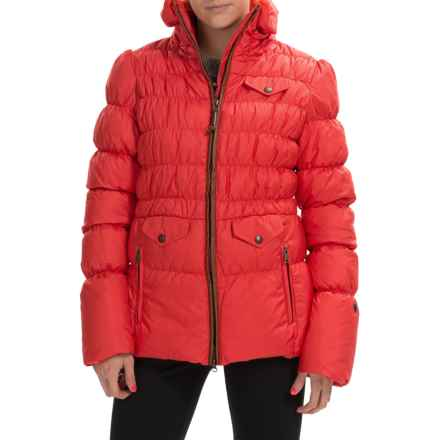 Neve Nina Peplum Down Jacket - 800 FP (For Women) in Vermillon - Closeouts