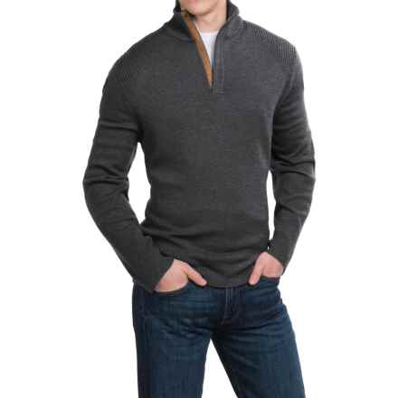 Neve Nolan Sweater - Merino Wool, Zip Neck (For Men) in Charcoal - Closeouts