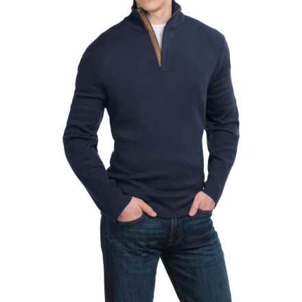 Neve Nolan Sweater - Merino Wool, Zip Neck (For Men) in Navy - Closeouts