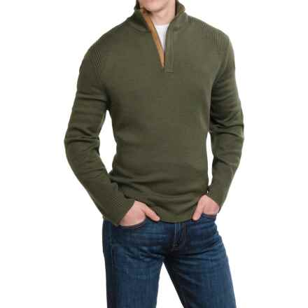 Neve Nolan Sweater - Merino Wool, Zip Neck (For Men) in Olive - Closeouts