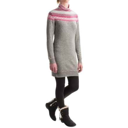 Neve Olivia Cowl Neck Dress - Merino Wool, Long Sleeve (For Women) in Fuschia - Closeouts