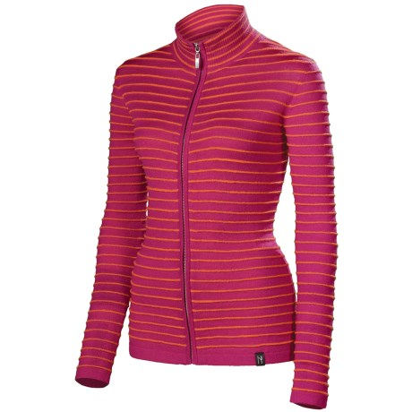 Neve Orly Ultrafine Merino Wool Sweater (For Women) in Raspberry