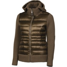 Neve Paige Knit Down Jacket - Hooded, 600 Fill Power (For Women) in Mushroom - Closeouts