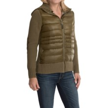 Neve Paige Knit Down Jacket - Hooded, 600 Fill Power (For Women) in Olive - Closeouts