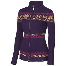 Neve Piper Cardigan Sweater - Merino Wool, Full Zip (For Women) in Grape - Closeouts