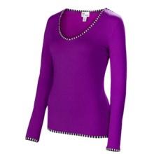 Neve Premiere Shirt - Merino Wool-Silk, Lightweight, Long Sleeve (For Women) in Gem - Closeouts