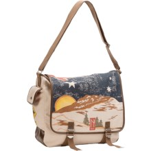 Neve Printed Messenger Bag - Canvas in Australia - Closeouts