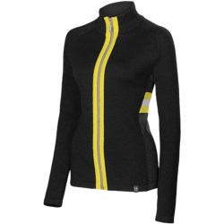 Neve Resi High-Performance Sport Sweater (For Women) in Black/Canary