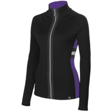 Neve Resi High-Performance Sport Sweater (For Women) in Black/Purple - Closeouts
