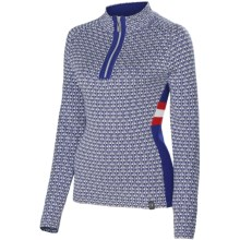 Neve Riley Sweater - Merino Wool Blend, Zip Neck (For Women) in Cobalt - Closeouts