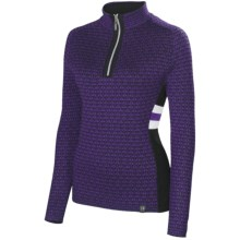 Neve Riley Sweater - Merino Wool Blend, Zip Neck (For Women) in Purple - Closeouts