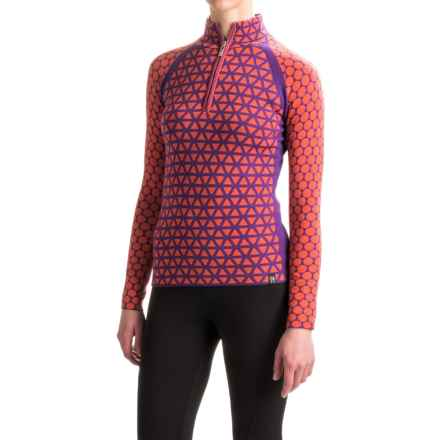 Neve Riley Zip Neck Sweater - Merino Wool (For Women) in Orangina - Closeouts