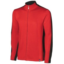 Neve River Cardigan Sweater - Full Zip (For Men) in Red - Closeouts